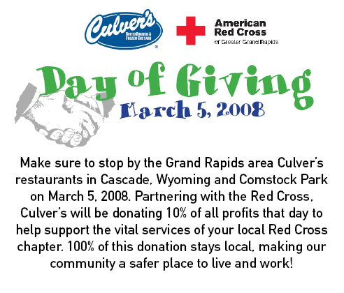 Culver's Day of Giving