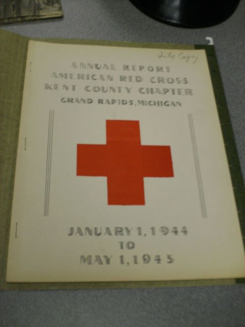 Our chapter's annual report from 1945, the year World War II ended.